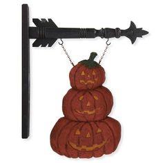 Pumpkin Stack Arrow Sign