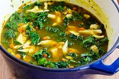 Kalyn's Kitchen®: Recipe for Chicken Soup with Farro, Kale, and Turmeric