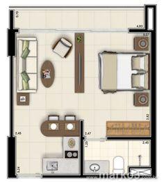 plantas de casas pequenas com um quarto - Pesquisa Google