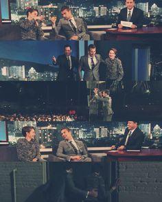 Theo james and shailene woodley on Jimmy Kimmel