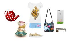 """alice in wonderland"" by harrypotter-gurl ❤ liked on Polyvore featuring Vans and Casetify"