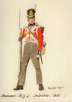SOLDIERS- Knötel: NAP- Britain: British Hanover Infantry of the King's German Legion 1815, by Knötel.