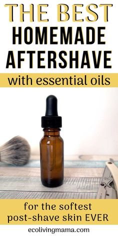 diy skin care Homemade aftershave is easy to make with natural ingredients and essential oils. Aloe and witch hazel sooth and hydrate post-shave skin. Homemade Skin Care, Homemade Beauty Products, Diy Skin Care, Skin Care Tips, Diy Products, Face Products, Natural Products, Diy Lotion, Lotion Bars