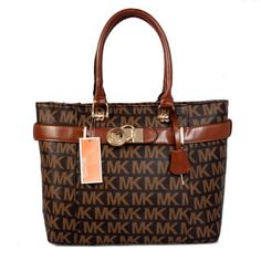 Michael Kors Jet Set Logo Large Brown Totes.More than 60% Off, I enjoy these bags.It's pretty cool (: Check it out! | See more about michael kors, michael kors outlet and outlets.