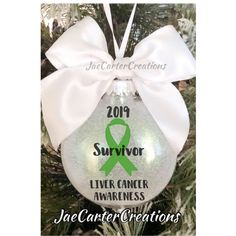 Excited to share this item from my shop: Yellow Ribbon Awareness Ornament, Bone Cancer Awareness Ornament, Liver Disease Awareness Ornament, Endometriosis Awareness Ornament Ovarian Cancer Awareness, Childhood Cancer Awareness, Endometriosis Awareness, Cervical Cancer, Teal Ribbon, Personalized Christmas Ornaments, That Way, Kidney Cancer