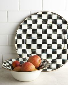 http://www.shopstyle.com/action/loadRetailerProductPage?id=362214706&pid=uid8836-30730094-40   MacKenzie-Childs Courtly Check Platter & Bowl