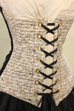 Waist 41 to 43  Anguished Love Letter Corset. $99.00, via Etsy.