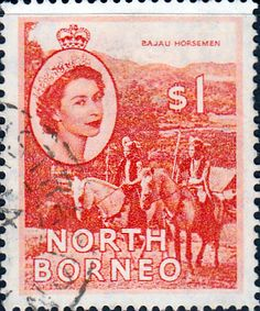 North Borneo 1954 SG 384 Queen Elizabeth II Fine Used Scott 273 Other Malayan Stamps HERE