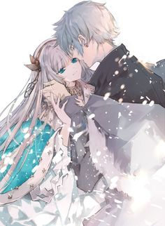 Anime, manga, and video game fan-art artworks from Pixiv (ピクシブ) — a Japanese online community for artists. Anime Love Couple, Manga Couple, Anime Couples Manga, Cute Anime Couples, Anime Girls, Anime Cupples, Anime Demon, Kawaii Anime, Hot Anime