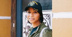 A woman wearing an Army Veteran baseball cap looks confidently into the camera. Love Has No Labels, Army Veteran, Military Jacket, Connection, Women Wear, This Or That Questions, Baseball Cap, People, How To Wear