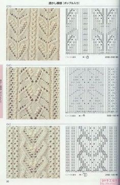 fish tail and cable lace knitting pattern - Yahoo Image Search Results Lace Knitting Stitches, Cable Knitting Patterns, Knitting Charts, Knitting Designs, Lace Patterns, Stitch Patterns, Crochet Patterns, Yandex Disk, Album