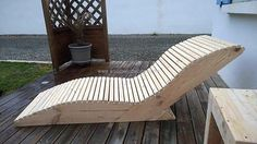 sun lounger out of pallets