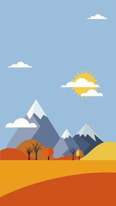 Scenery Wallpaper, Nature Wallpaper, Wallpaper Backgrounds, Landscape Illustration, Graphic Illustration, Illustrations, Graffiti Kunst, Grafic Art, Minimal Wallpaper