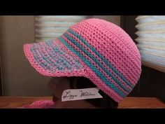 Crochet Crochet Stiffy Cord Stitch Cap Part 1 Love – Tatto Crochet Hat With Brim, Crochet Beanie Hat, Crochet Cap, Love Crochet, Crochet Stitches, Crochet Patterns, Half Double Crochet, Single Crochet, Crochet Coffee Cozy
