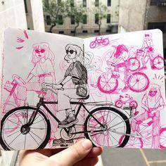 "2,212 Me gusta, 4 comentarios - ree (@rvsalochka) en Instagram: ""Page from my little doodle sketchbook and @zro30's hand"""