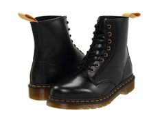 Dr. Martens - 1460 Vegan 8-Eye Boot (Black) Lace-up Boots