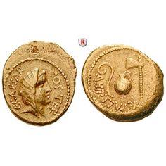Römische Republik, Caius Iulius Caesar, Aureus 46 v.Chr., ss-vz: Caius Iulius Caesar 100-44 v.Chr. Aureus 21 mm 46 v.Chr. Rom.… #coins