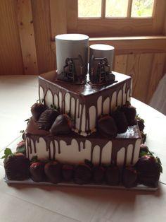 Oil Field Grooms cake.