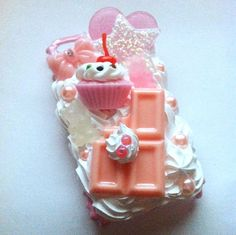Made to Order Pink Chocolate Cupcake Gummi Bear by dearlydisturbed, $30.00