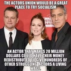 I bet when we start touching their money.they will think twice about Socialism. Liberal Hypocrisy, Liberal Logic, Socialism, Communism, Truth Hurts, It Hurts, Political Quotes, Conservative Politics