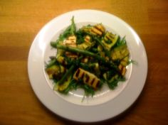 Halloumi with chargrilled asparagus & courgette