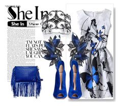 """""""Blue/white"""" by spolyvore1 ❤ liked on Polyvore featuring Gianvito Rossi, B Brian Atwood and Palm Beach Jewelry"""