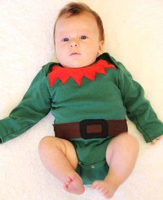 baby elf costume | Santau0027s Helper Elf Costume  sc 1 st  Pinterest & Santau0027s Little Helper Elf Baby Costume Elf Baby by mylittlemookie ...