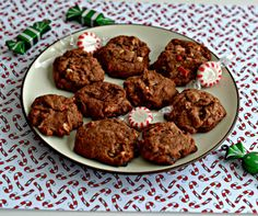 Chocolate Cookies with Peppermint Chips