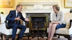 European Council President Tusk travels to London Tuesday next week - To meet with UK PM May - Talks on Brexit What else is there to talk about? It should generate some Brexit/GBP moving headlines By Eamonn Sheridan Mrs May, European Council, Uk Politics, British Prime Ministers, Theresa May, Image Caption, Bbc News, Planer, House