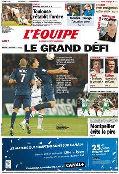 L'Equipe Edition du Samedi 22 Septembre 2012