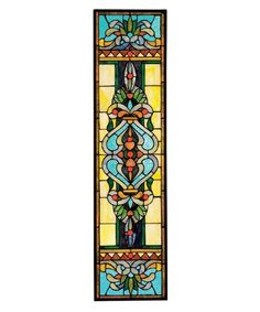 Design Toscano Inc Blackstone Hall Tiffany-Style Stained Glass Window - hand cut art glass encased in glaziers lead.Copper-foiled and individually soldered. Classic Tiffany design.