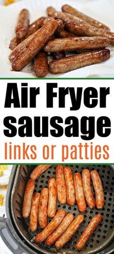 Sausage links in air fryer are easier than using your stove and turn out way better too! Crispy on the outside and tender pork on the inside. #airfryersausage