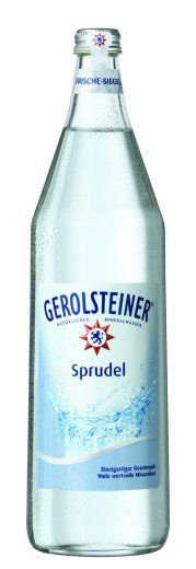 gerolsteiner - high mineral content carbonated water.