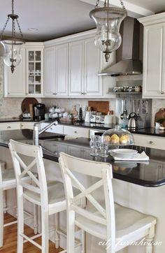 Home Tour: City Farmhouse {Fall Tour) Beautiful white kitchen