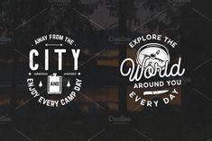 12 Vintage Outdoor Adventure Logos - Logos