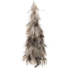 Amara Feather Christmas Tree Ornament - Small ($61) ❤ liked on Polyvore featuring home, home decor, holiday decorations, brown, key ornament, feather christmas tree ornaments, feather ornaments, xmas tree ornaments and brown christmas ornaments