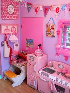 playhouse kitchen and desk by Palm Tree Princess, via Flickr