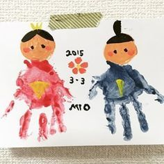 Baby Crafts, Diy And Crafts, Crafts For Kids, Arts And Crafts, Hina Dolls, Japanese Festival, Footprint Art, Baby Art, Girl Day