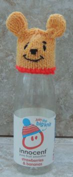 Innocent Smoothies Big Knit Hat Patterns – Winnie the Pooh – Knitting patterns, knitting designs, knitting for beginners. Knitting Designs, Knitting Patterns Free, Free Knitting, Knitting Projects, Knitting Ideas, Sewing Projects, Knitting For Charity, Knitting For Kids, Loom Knitting