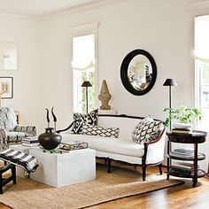 After: Neutral Update Living Room - Our Best Before and After Home Renovations - Southern Living