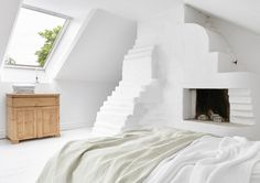 Attic Renovation Ideas / White Apartment In Saltsjöbaden
