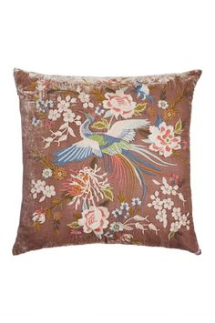 Your house guests will be sure to ask you about the Ceretti velvet pillow. It's luxurious fabrics combined with intricate embroidery make this pillow a focal point in any room. Velvet Pillows, Throw Pillows, Living On The Edge, Chinoiserie Chic, Bohemian Interior, Antique Roses, Johnny Was, Home Accessories, Tapestry