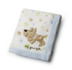 Carter's Easy Printed Embroidered Boa Blanket, Dog Gone Cute (Discontinued by Manufacturer) Dog Blanket, Blue Blanket, Cute Baby Boy, Cute Babies, Embroidered Baby Blankets, Kids Line, Baby Accessories, Dog Treats, Pet Supplies