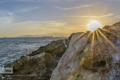 Sun Light !!! by michailchristodoulopoulos  Gibraltar beach blue clouds europe mediterranean rocks sea seascape sky travel water waves Sun Light