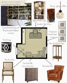 Home Office Mood Board With Furniture Layout  Jessicastoutdesign.blogspot.com. Interior PresentationPresentation BoardsInterior  Design ToolsInterior ...