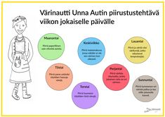 Viikkotehtävät - Värinautit Primary School, Elementary Schools, Free Coloring Pictures, Art Worksheets, Creative Activities, Projects For Kids, Art School, Parenting Hacks, Art For Kids
