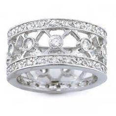 Ladies Wide Band Diamond Rings - Bing Images