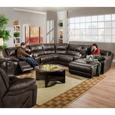 PFC Furniture Jackson Hole 34B 4 PC Sectional Sofa | Modern Furniture Warehouse