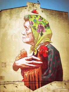 STREET ART IN LODZ Poland, Street Art, Painting, Painting Art, Paintings, Painted Canvas, Drawings