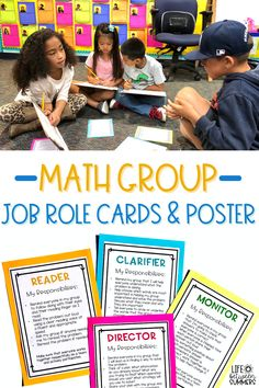Math groups are a great way for students to work on math problems collaboratively. Have your students work as a team in collaborative groups to solve math word problems. Each member of the team has a specific role to encourage responsibility and active participation. Use this math activity during math workshop, guided math, or math centers. This allows students to problem solve with peer support. This math activity meets several Common Core standards. Hang the math poster for student reference.
